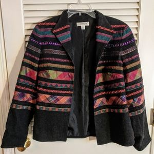 Coldwater Creek blazer/jacket 6 Medium striped SW